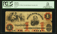 Norwalk, OH- The State Bank of Ohio Norwalk Branch $1 Aug. 16, 1862 G1070a Wolka 2007-08