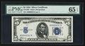 Small Size:Silver Certificates, Low Serial Number A00000241A Fr. 1650 $5 1934 Silver Certificate. PMG Gem Uncirculated 65 EPQ.. ...