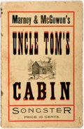 Books:Americana & American History, [Harriet Beecher Stowe] Marney & McGowen's Uncle Tom's CabinSongster. N.p., n.d. [circa 1890]. Publisher's orig...