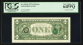 Fr. 1910-L $1 1977A Federal Reserve Note. PCGS Very Choice New 64PPQ