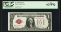 Small Size:Legal Tender Notes, Fr. 1500 $1 1928 Legal Tender Note. PCGS New 62PPQ.. ...
