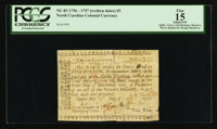North Carolina 1756 - 1757 (written dates) £5 PCGS Apparent Fine 15