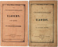 Books:Americana & American History, [Anti-Slavery]. Lysander Spooner. The Unconstitutionality of Slavery, Parts I and II. Bela Marsh, 1846 and 1847.... (Total: 2 Items)