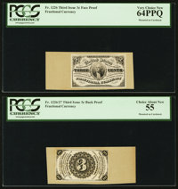 Three Cent Third Issue Proof Pair PCGS Very Choice New 64PPQ and Choice About New PCGS 55