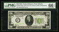 Small Size:Federal Reserve Notes, Fr. 2054-F $20 1934 Light Green Seal Federal Reserve Note. PMG Gem Uncirculated 66 EPQ.. ...