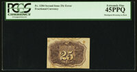 Fr. 1284 25¢ Second Issue Bronzing Error PCGS Extremely Fine 45PPQ