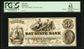 Obsoletes By State:Massachusetts, Lawrence, MA- Bay State Bank $3 G6 Proof Haxby Plate Note. ...