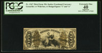 Fr. 1371 50¢ Third Issue Justice PCGS Apparent Extremely Fine 40