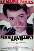 Books:Prints & Leaves, [Movie Poster] Ferris Bueller's Day Off One-Sheet Movie Poster. Folded. Small tack holes in the edges, else very...