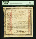 Colonial Notes:Massachusetts, Commonwealth of Massachusetts £50/13s/4d Treasury CertificateNovember 1, 1785 Anderson MA-34 PCGS Very Fine 30.. ...