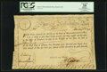 Colonial Notes:Massachusetts, State of Massachusetts Bay £15 Treasury Certificate February 5,1780 Anderson MA-17 PCGS Apparent Very Fine 35.. ...