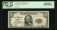 Fr. 1880-J* $50 1929 Federal Reserve Bank Note. PCGS Extremely Fine 40PPQ