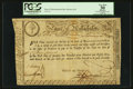 Colonial Notes:Massachusetts, State of Massachusetts Bay £15 Treasury Certificate February 5,1780 Anderson MA-16 PCGS Apparent Very Fine 30.. ...