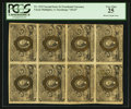 Fr. 1233 5¢ Second Issue Uncut Block of Eight PCGS Very Fine 25