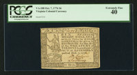 Virginia October 7, 1776 $6 PCGS Extremely Fine 40