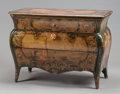 Furniture , A VENETIAN PAINTED BOMBÉ COMMODE. 18th century. 33-1/2 x 45 x 22 inches (85.1 x 114.3 x 55.9 cm). ...