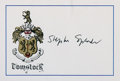 "Autographs:Authors, English Novelist Stephen Spender (1919-1995) Autograph ""StephenSpender"". Signed on the bookplate of noted American book..."