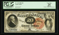 Large Size:Legal Tender Notes, Fr. 135 $20 1880 Legal Tender PCGS Apparent Very Fine 25.. ...
