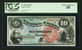Large Size:Legal Tender Notes, Fr. 96 $10 1869 Legal Tender PCGS Choice About New 58.. ...