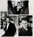 Autographs:Authors, Lot of Three Signed Author Publicity Photographs. Various sizes. Includes two examples inscribed by English author Paul Saye...