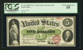 Large Size:Legal Tender Notes, Fr. 61c $5 1862 Legal Tender PCGS Choice About New 55.. ...