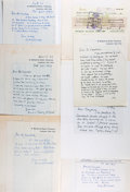 Autographs:Authors, Archive of Correspondence From British Author Sir Victor Pritchett to Noted American Book Collector Rolland Comstock, 1988-198...