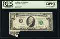 Error Notes:Foldovers, Fr. 2023-B $10 1977 Federal Reserve Note. PCGS Very Choice New64PPQ.. ...