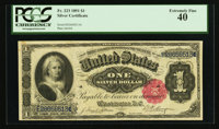 Fr. 223 $1 1891 Silver Certificate PCGS Extremely Fine 40