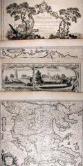 "Books:Maps & Atlases, [Antique Maps] Lot of Four Engraved Maps: Macedonia, Greece, Wiltshire and Northumberland. Various sizes from 23.25"" x 20"" t..."