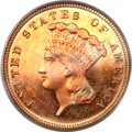 Three Dollar Gold Pieces, 1882 $3 MS67 PCGS. CAC....