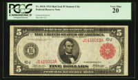 Fr. 841b $5 1914 Red Seal Federal Reserve Note PCGS Very Fine 20