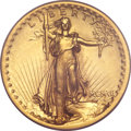 High Relief Double Eagles, 1907 $20 High Relief, Flat Rim MS63 PCGS. CAC....