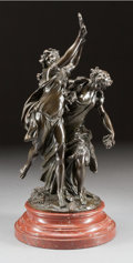 Fine Art - Sculpture, European:Antique (Pre 1900), CLAUDE MICHEL CLODION (French, 1738-1814). Bacchanalia.Bronze with brown patina. 22-1/2 inches (57.2 cm) high (excludin...