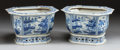 Asian:Chinese, A PAIR OF CHINESE BLUE AND WHITE OCTAGONAL PORCELAIN PLANTERS. 20thcentury. 9-3/4 x 14-1/4 x 11-3/4 inches (24.8 x 36.2 x 2... (Total:2 Items)