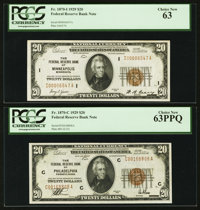 Fr. 1870-C $20 1929 Federal Reserve Bank Note. PCGS Choice New 63PPQ; Fr. 1870-I $20 1929 Federal Reserve Bank Note. PCG...