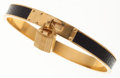 Luxury Accessories:Accessories, Hermes 65mm Black Lizard Kelly Cadena Bangle Bracelet with GoldHardware. ...