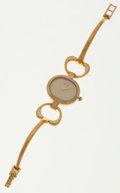 Luxury Accessories:Accessories, Gucci Gold Wristwatch with Gold Face. ...