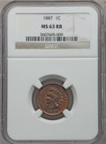 Indian Cents: , 1887 1C MS63 Red and Brown NGC. NGC Census: (56/185). PCGSPopulation (108/219). Mintage: 45,226,484. Numismedia Wsl. Price...