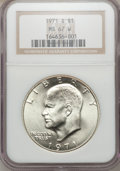 Eisenhower Dollars, 1971-S $1 Silver MS67 W NGC. NGC Census: (81/1). PCGS Population (392/2). Mintage: 2,600,000. Numismedia Wsl. Price for pro...