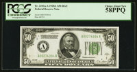 Fr. 2101-A $50 1928A Federal Reserve Note. PCGS Choice About New 58PPQ