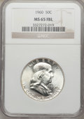 Franklin Half Dollars: , 1960 50C MS65 Full Bell Lines NGC. NGC Census: (88/1). PCGSPopulation (745/42). Numismedia Wsl. Price for problem free NG...