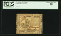 Colonial Notes:Continental Congress Issues, Continental Currency July 22, 1776 $6 PCGS Choice About New 58.....