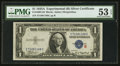 Small Size:Silver Certificates, Fr. 1609 $1 1935A R Silver Certificate. PMG About Uncirculated 53 EPQ.. ...