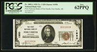 Fort Smith, AR - $20 1929 Ty. 1 The First NB Ch. # 1950