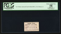 New Orleans, LA- New Orleans, Jackson & Great Northern Rail Road 50¢