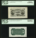 Fractional Currency:Third Issue, Fr. 1272SP 15¢ Third Issue Pair PCGS Choice New 63PPQ and 58PPQ.. ... (Total: 2 notes)