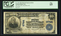 National Bank Notes:North Carolina, Lincolnton, NC - $10 1902 Plain Back Fr. 624 The First NB Ch. # 6744. ...