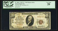 Lincolnton, NC - $10 1929 Ty. 1 The First NB Ch. # 6744