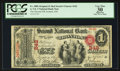 National Bank Notes:Ohio, Ironton, OH - $1 Original Fr. 380b The Second NB Ch. # 242. ...