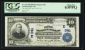 National Bank Notes:New York, New York, NY - $10 1902 Plain Back Fr. 624 The Fifth NB Ch. # (E)341. ...